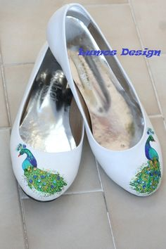 Peacock Ballet Flats by lumosdesign on Etsy