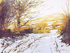 Watercolor by Richard Thorn. Makes you want to walk into the sun.