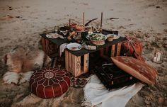 Gypsy Beach Dinner Party Wedding Inspiration via Truly and Madly Summer Wedding, Dream Wedding, Wedding Day, Party Wedding, Beach Dinner Parties, Outdoor Parties, Wedding Locations, Wedding Shoot, Wedding Styles