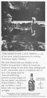 Jack Daniel's Limestone Cave Spring 1983 Ad Picture