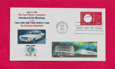 U546 1964 New York Worlds Fair FDC First Ford Mustang Introduced at Fair | eBay