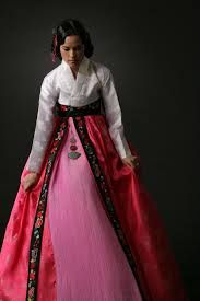 9) white and pink hanbok