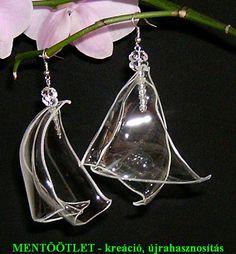 PET-palackból készült fülbevaló  http://mentootlet.blogspot.hu/p/aloldal.html