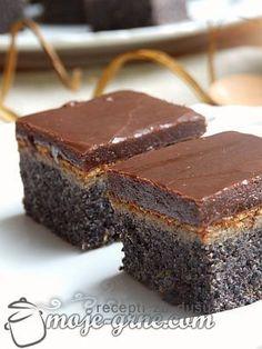 koláč s makom Wine Recipes, Baking Recipes, Cookie Recipes, Dessert Recipes, Brze Torte, Kolaci I Torte, Poppy Seed Cake, Croatian Recipes, Snacks Für Party