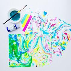 Lines Across: DIY Marbled Paper