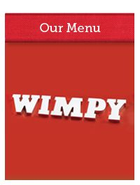 Wimpy is a leading South African quick service restaurant with a wide range of burgers, breakfast and coffee. There's a Wimpy moment in everyday!