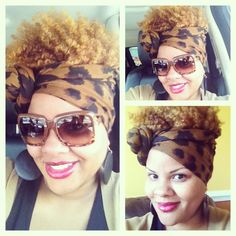 I Need to find more pretty & funky scarves like this...#fro #headwrap #scarf