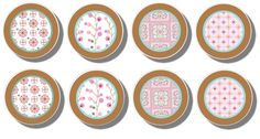 Handmade Pink Dylan Dresser Drawer Knobs - Set of 8. $18.00, via Etsy.