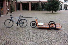 Carla electric Cargo Bicycle Trailer - orange - Detailed Picture | por carla_cargo