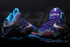 lebron shoes | Purple-Teal-LeBron-Shoes