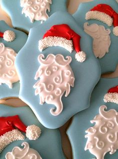 Santa Christmas Cookies on a plaque shape......wow