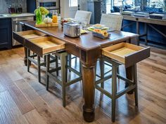 - Kitchen Pictures From HGTV Smart Home 2014 on HGTV ***island counter height with outlets and drawers