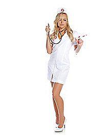 Spirit Hallowen - Hot Flash Nurse Adult Womens Costume