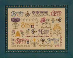 Elizabeth's Designs Antique Bee Sampler