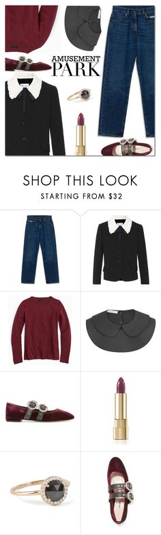 """""""60-Second Style: Amusement Park"""" by danielle-487 ❤ liked on Polyvore featuring J.Crew, Miu Miu, amusementpark and 60secondstyle"""