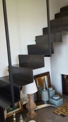 Scala in lamiera di ferro Staircase Storage, House Staircase, Staircase Design, Staircases, Metal Stairs, Interior Stairs, Building A New Home, Architectural Features, Architecture Design