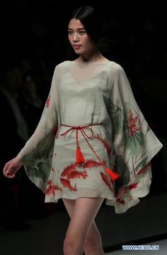 Chinese designer Zhang Zhifeng at China Fashion Week SS 2013