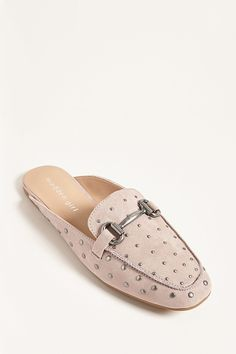 Product Name:Madden Girl Studded Loafer Mules, Category:Shoes, Price:38
