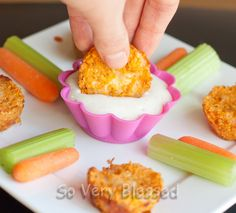 Buffalo Chicken Quinoa Bites