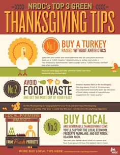 NRDC's Top 3 Thanksgiving Green Tips #greentip
