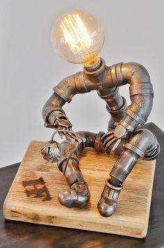 "Horsham Forge pipe man lamp ""wilt'"