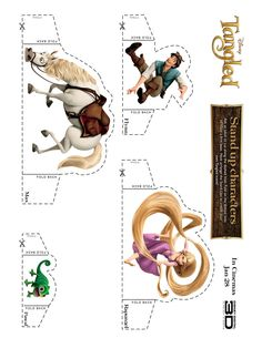 TANGLED Stand Up Characters