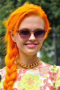 Bright orange hair, love it and considering it!