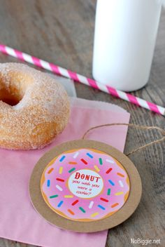 donut party (free) printables.  SO FUN!  All kids come in pjs and play slumber party games and eat DOUGHNUTS!  All know my girl likes doughnuts ;)