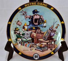 The Ultimate Notre Dame Fan Plate By Gary Patterson Danbury Mint Lmtd Ed #B5383 #DanburyMint #UniversityofNotreDame