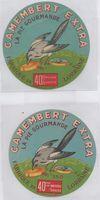 La collection d'étiquettes de fromages