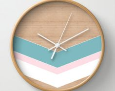 xoxo love wall clock home decor ornament by MonochromeStudio
