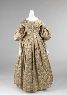 Afternoon dress, 1837-1839, American, silk  Brooklyn Museum Costume Collection at The Metropolitan Museum of Art, Gift of the Brooklyn Museum, 2009; Gift of the Jason and Peggy Westerfield Collection, 1969