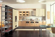 Kitchen Design with Extended Shelving