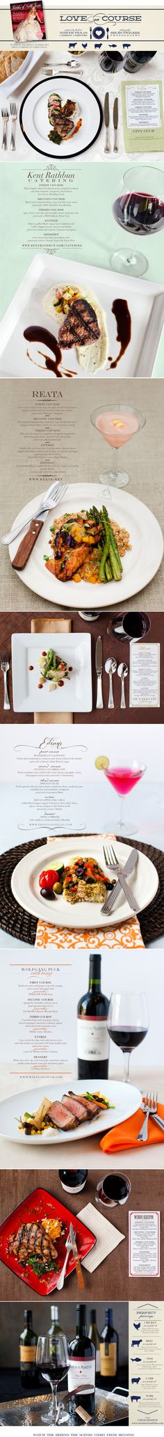 #Wedding caterer's dishes, including Wolfgang Puck Catering, showcased by @Brides of North Texas! #WPCatering