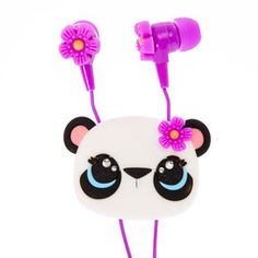 Panda Flower Earbuds with Winder,