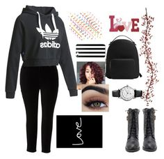 """""""Untitled #4"""" by mivak356 ❤ liked on Polyvore featuring Melissa McCarthy Seven7, adidas, MANGO and plus size clothing"""
