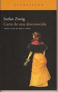 Carta de de una desconocida de Stefan Zweig
