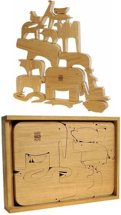 3 Clever Wooden Animal Puzzles For A Developping Play | Kidsomania