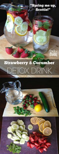 """""""SPRING ME UP, SCOTTIE!"""" – STRAWBERRY AND CUCUMBER DETOX DRINK 