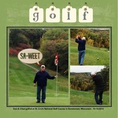 Golf scrapbook page designed with My Digital Studio software from Stampin' Up!