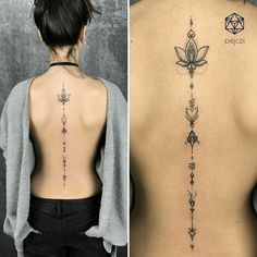 Back tattoo - Ink - Tattoo Lotusblume Tattoo, Tattoo Son, Tattoo Style, Tattoo Life, Trendy Tattoos, New Tattoos, Body Art Tattoos, Small Tattoos, Fake Tattoos