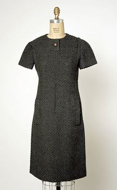 Marc Bohan House of Dior  Dress   French 1965-66 Wool