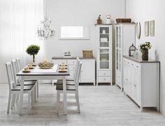 Laulumaa Huonekalut - Ruokailuhuone / keittiö - Laulumaa Sara® - valkoinen / kuultoharmaa Decor, Furniture, Table, Home Decor, Kitchen