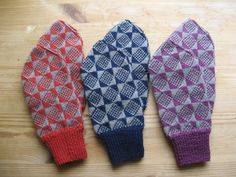 These are Hattie Startin's Nordic Mittens - All her stufff is hand knitted and absolutely lovely