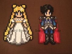 Princess Serenity & Endymion Sailor Moon Perler by SongbirdBeauty