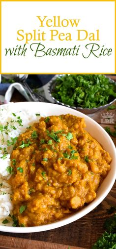 Yellow Split Pea Dal with Basmati Rice - Lord Byron's Kitchen recipes healthy crockpot Pea Recipes, Lentil Recipes, Vegetable Recipes, Indian Food Recipes, Crockpot Recipes, Soup Recipes, Vegetarian Recipes, Cooking Recipes, Healthy Recipes