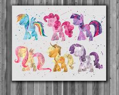 Digital printing – My Little Pony Art Print Watercolor Printable – a unique… My Little Pony Poster, My Little Pony Party, My Little Pony Comic, My Little Pony Printable, My Little Pony Bedroom, Canvas Art Prints, Fine Art Prints, Art Prints Online, Printable Art