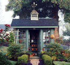 Lotta cute garden shed ideas here garden Pinterest Gardens