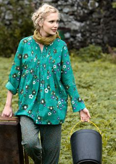 """Söderöra"" organic cotton blouse – Blouses & waistcoats – GUDRUN SJÖDÉN – Webshop, mail order and boutiques 