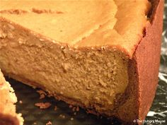 Brown-Sugar Pumpkin Cheesecake with Chocolate-Shortbread Crust at The Hungry Mouse | The Hungry Mouse